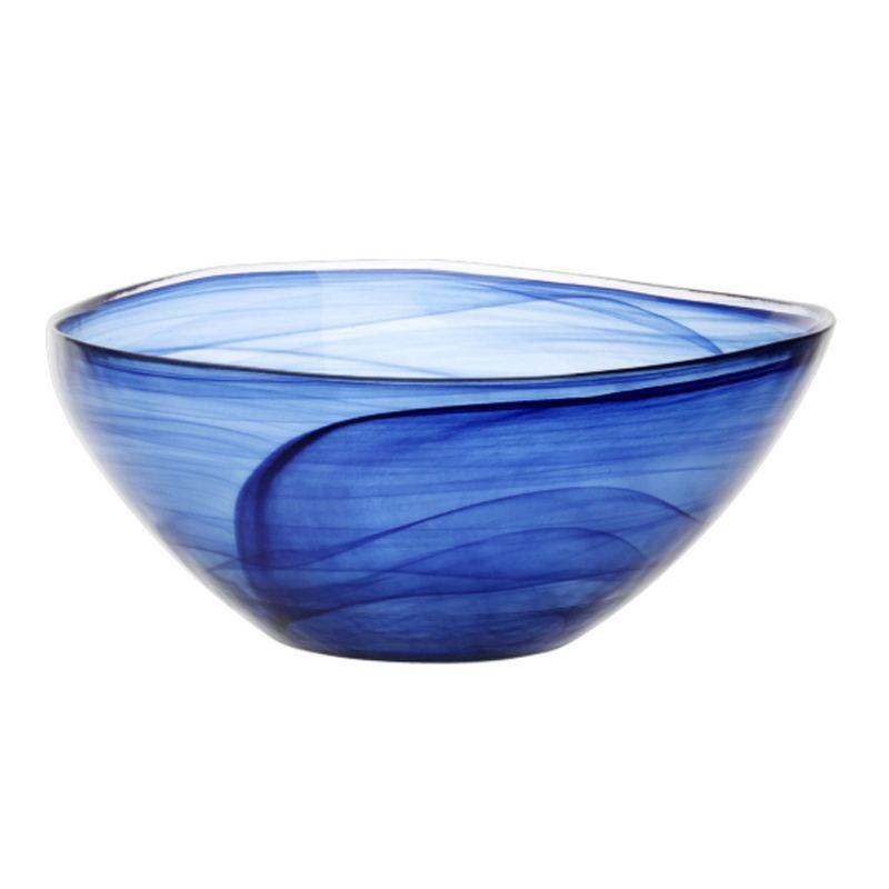 Ensaladera Cristal Azul