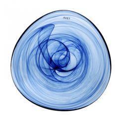 Fuente de cristal azul
