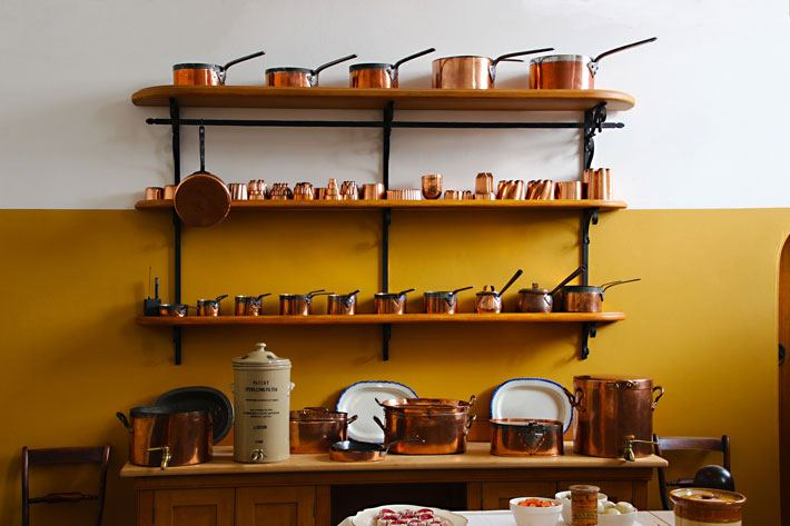 Los utensilios de cobre en la cocina