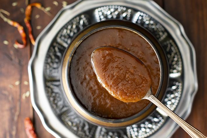 chutney de tamarindo spice and colour