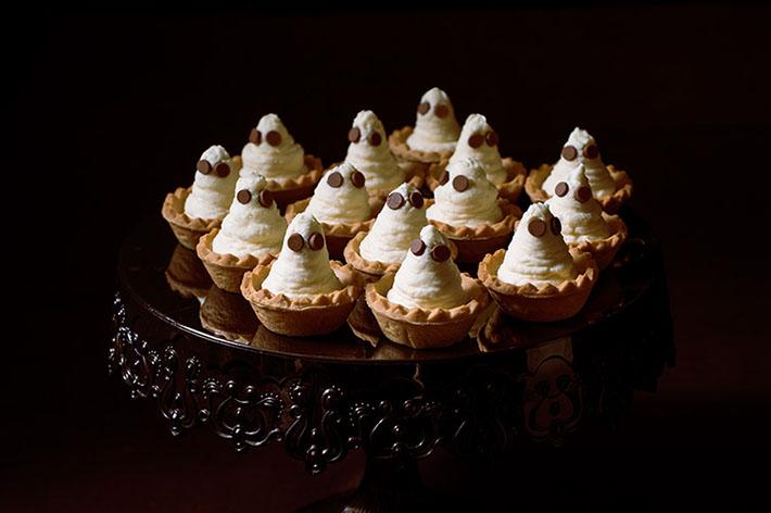 fantasmas de tarta de queso halloween
