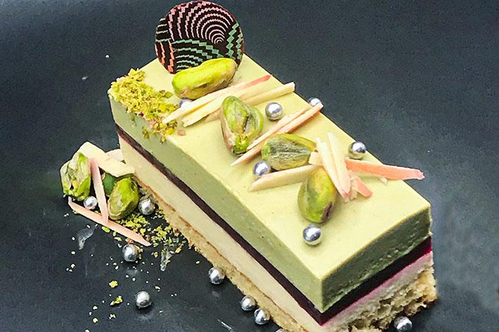 tarta de pistacho y vainilla de Vanusa Hazboun
