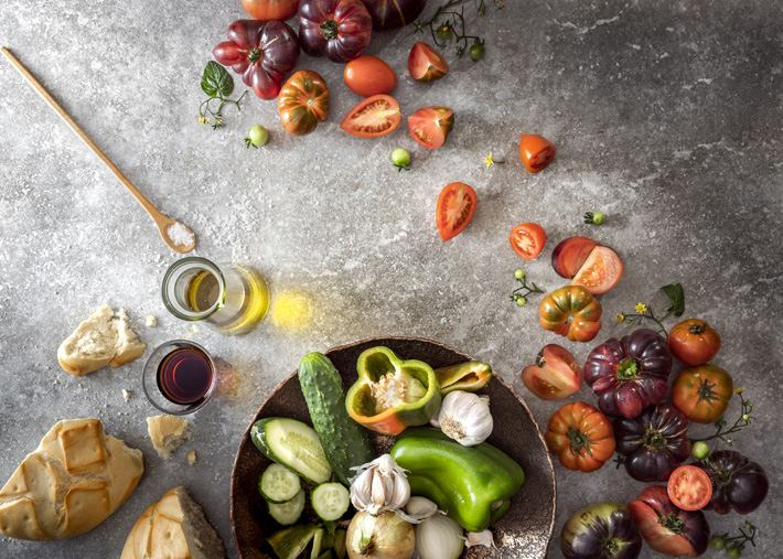 Ingredientes gazpacho tradicional