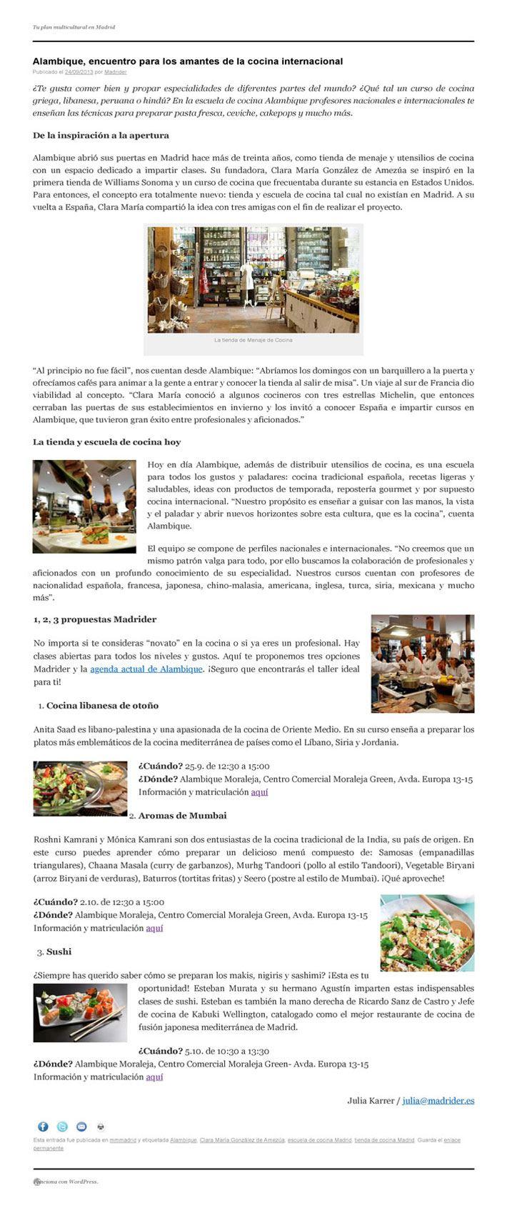 ARTICULO DE MADRIDER SOBRE ALAMBIQUE