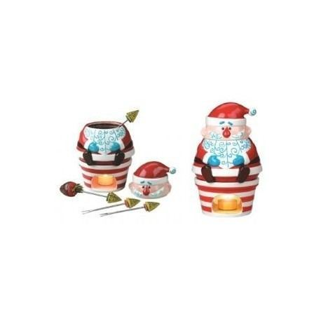 FONDUE CHOCOLATE SANTA CLAUS