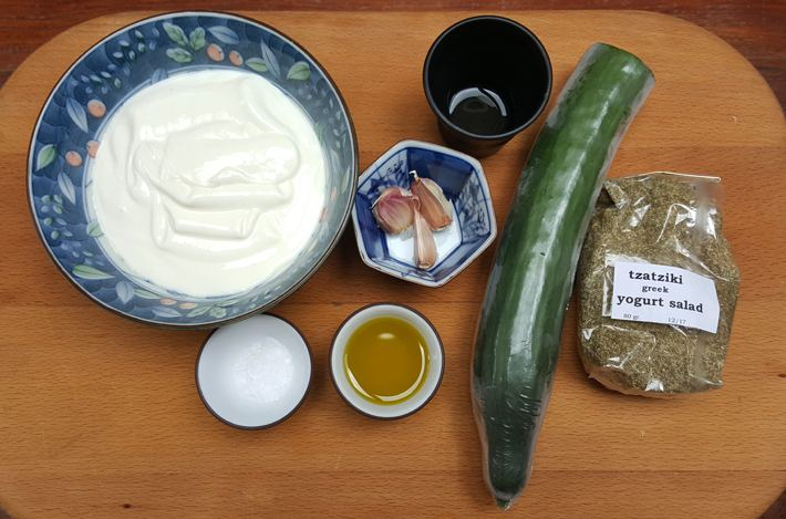 INGREDIENTES TZATZIKI